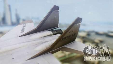 Mikoyan-Gurevich MIG-33 UPEO для GTA San Andreas вид сзади слева