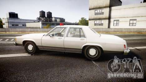 Ford LTD Crown Victoria 1987 Detective [ELS] для GTA 4 вид слева