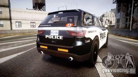 Dodge Durango Alderney Police для GTA 4 вид сзади слева