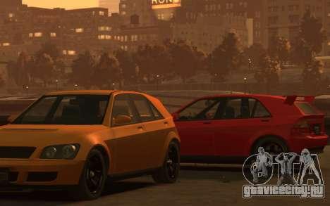 Karin Sultan Hatchback v2 для GTA 4 вид сзади слева