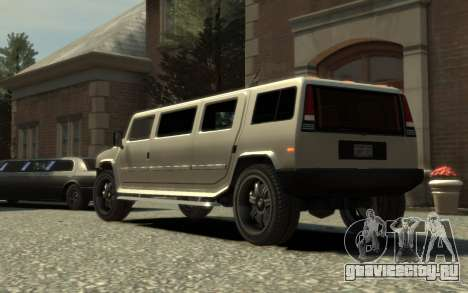 Mammoth Patriot Limousine для GTA 4 вид слева