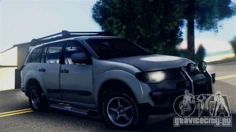 Mitsubishi Pajero 2014 Sport Dakar Offroad для GTA San Andreas