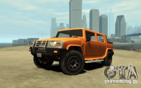 Mammoth Patriot Pickup v2 для GTA 4 вид сзади