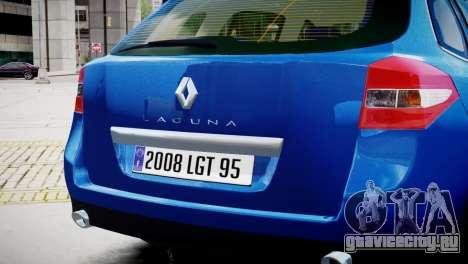 Renault Laguna III.1 Estate GT для GTA 4 вид справа