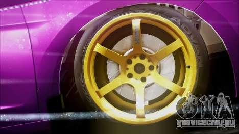 Honda CRZ Hybird Pink Cute для GTA San Andreas вид справа