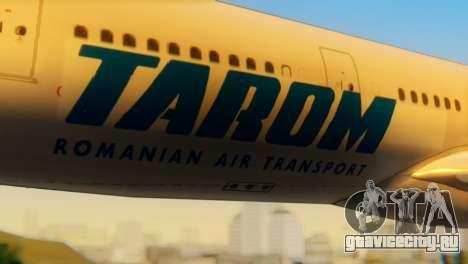 Airbus A330 TAROM Romania для GTA San Andreas вид сзади