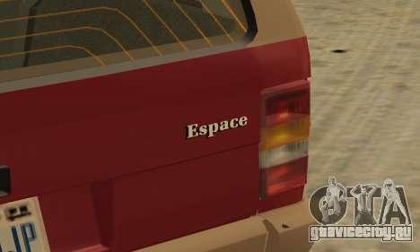 Renault Espace 2000 GTS для GTA San Andreas колёса