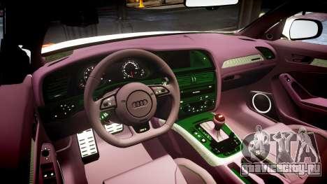Audi S4 Avant Belgian Police [ELS] orange для GTA 4 вид изнутри
