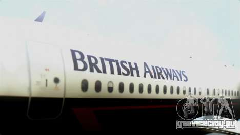Airbus A320-200 British Airways для GTA San Andreas вид сзади