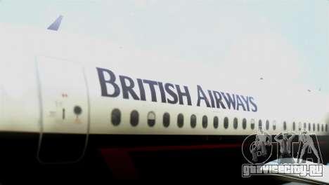 Airbus A320-200 British Airways для GTA San Andreas вид сзади