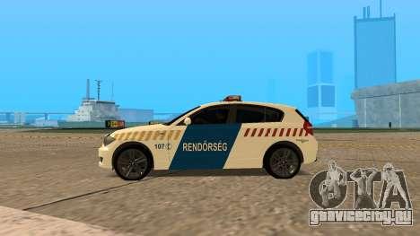 BMW 120i E87 Hungarian Police для GTA San Andreas вид слева