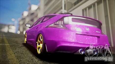 Honda CRZ Hybird Pink Cute для GTA San Andreas вид слева