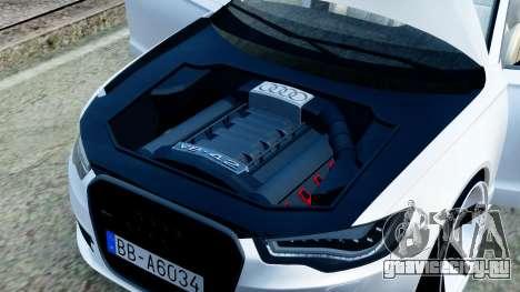 Audi A6 Stanced для GTA San Andreas вид изнутри