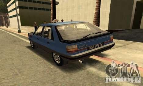 Renault 11 TXE Taxi для GTA San Andreas вид справа