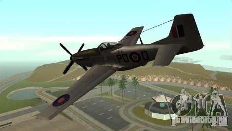 P-51D Mustang для GTA San Andreas вид слева