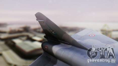 Dassault Mirage 4000 French Air Force для GTA San Andreas вид сзади слева