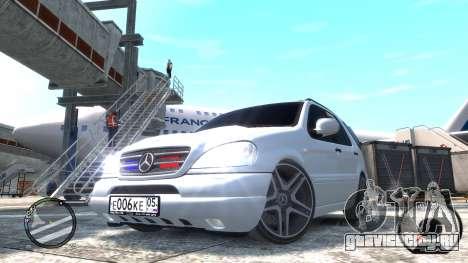 Mercedes-Benz ML 55 AMG для GTA 4 вид сзади слева
