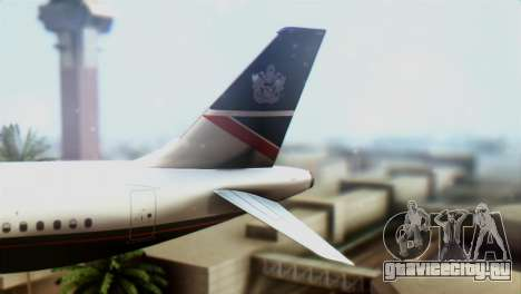Airbus A320-200 British Airways для GTA San Andreas вид сзади слева