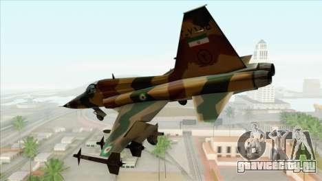 Northrop F-5ES IRIAF для GTA San Andreas вид слева