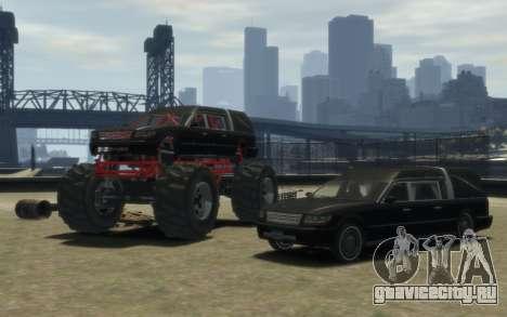 Albany Undertaker (Romero Monster) для GTA 4 вид сзади