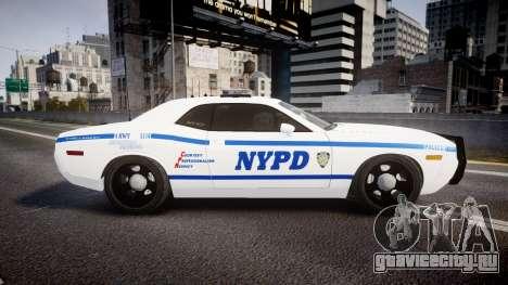 Dodge Challenger NYPD [ELS] для GTA 4 вид слева