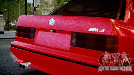 BMW M3 E30 для GTA 4 вид справа