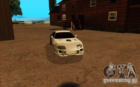 Toyota Supra Blue Robot для GTA San Andreas вид сзади слева