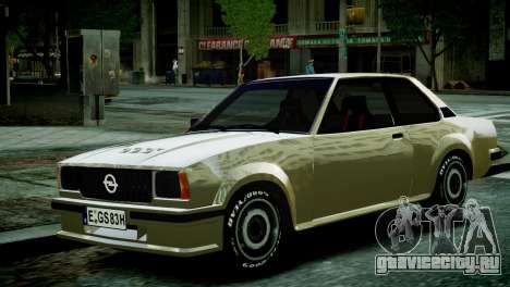 Opel Ascona B для GTA 4 вид справа