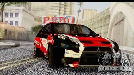 Mitsubishi Lancer Evo X Nunes для GTA San Andreas