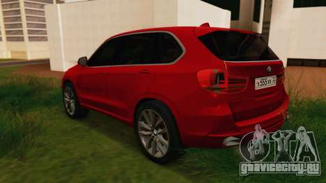BMW X5 F15 2014 для GTA San Andreas вид сзади слева