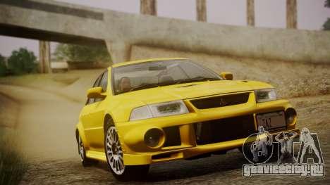 Mitsubishi Lancer Evolution VI 1999 PJ для GTA San Andreas вид сзади