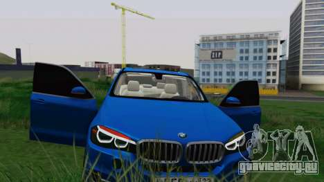 BMW X5 F15 2014 для GTA San Andreas вид снизу