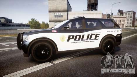 Dodge Durango Alderney Police для GTA 4 вид слева