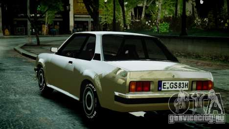 Opel Ascona B для GTA 4 вид сзади слева