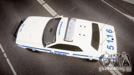 Dodge Challenger NYPD [ELS] для GTA 4 вид справа