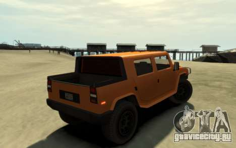 Mammoth Patriot Pickup v2 для GTA 4 вид слева