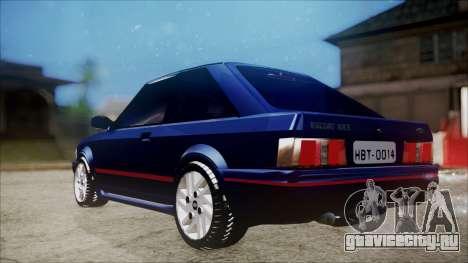 Ford Escort для GTA San Andreas вид сзади слева