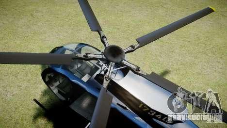 Buzzard from GTA 5 для GTA 4 вид сзади