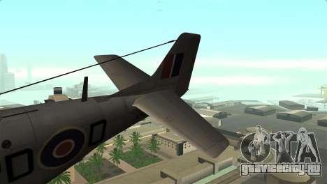 P-51D Mustang для GTA San Andreas вид сзади слева