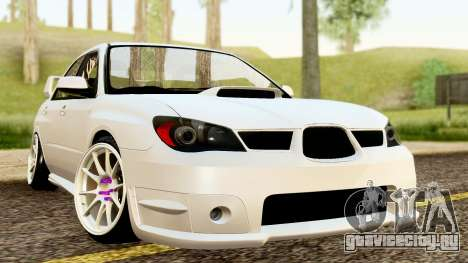 Subaru Impreza WRX STI Stance для GTA San Andreas вид справа