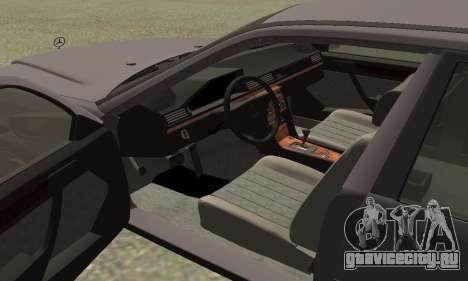 Mercedes-Benz W124 E200 для GTA San Andreas вид справа