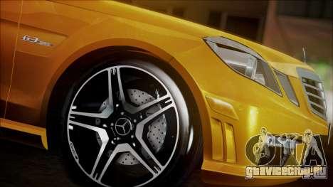 Mercedes-Benz E63 для GTA San Andreas вид сзади слева
