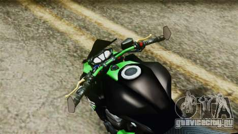 Kawasaki Z800 Modified для GTA San Andreas вид справа