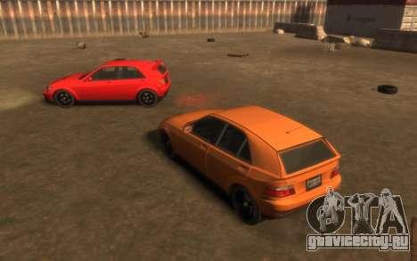 Karin Sultan Hatchback v2 для GTA 4 вид сзади
