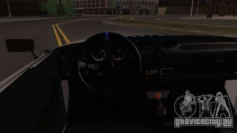 ВАЗ 2106 БК для GTA San Andreas вид изнутри