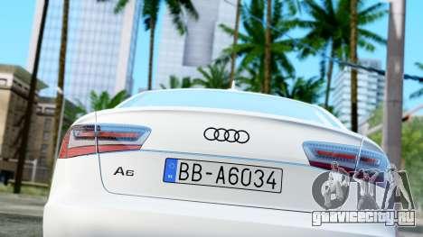 Audi A6 Stanced для GTA San Andreas вид сзади