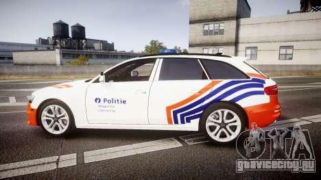 Audi S4 Avant Belgian Police [ELS] orange для GTA 4 вид слева
