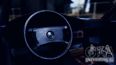 Mercedes-Benz 190E (W201) для GTA San Andreas вид изнутри