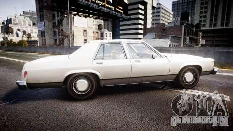 Ford LTD Crown Victoria 1987 Detective [ELS] v2 для GTA 4 вид слева