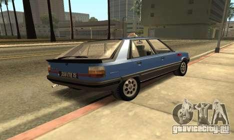 Renault 11 TXE Taxi для GTA San Andreas вид сзади слева